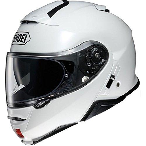 Shoei Solid Neotec 2 Modular Motorcycle Helmet - White/Medium