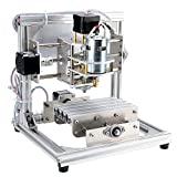 DIY CNC Router Kits 1310 GRBL Control 3 Axis Plastic Acrylic PCB PVC Wood Carving Milling Engraving Machine, XYZ Working Area 130x100x40mm CNC Router Machine