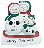 Personalized Family of 3 Christmas Ornament 2019