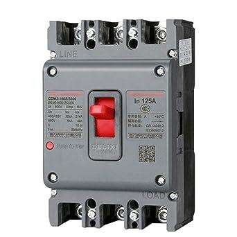 3P4P caja de plástico caja de plástico disyuntor 380V trifásico cuatro hilos interruptor de aire -3P_25A: Amazon.es: Industria, empresas y ciencia