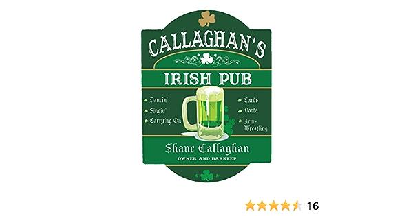 Amazon Com Giftsforyounow Personalized Irish Pub Sign 11 5 X 15 5 Home Kitchen
