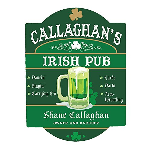 GiftsForYouNow Personalized Irish Pub Sign, 11.5