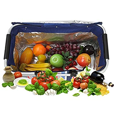 Oumers Upgrade Lunch Tote Bag, Large Pranzo Insulated Bag, Cooler Bag, Foldable Picnic Basket, Ultra-size Idea for Outdoor Travel, Picnic, Camping BBQ Party, Keep Food and Drinks Cool Fresh