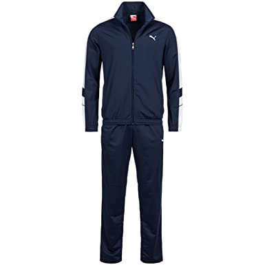 puma mens tracksuit. puma mens tracksuit soccer training suit poly track top pants navy 819298 (s)