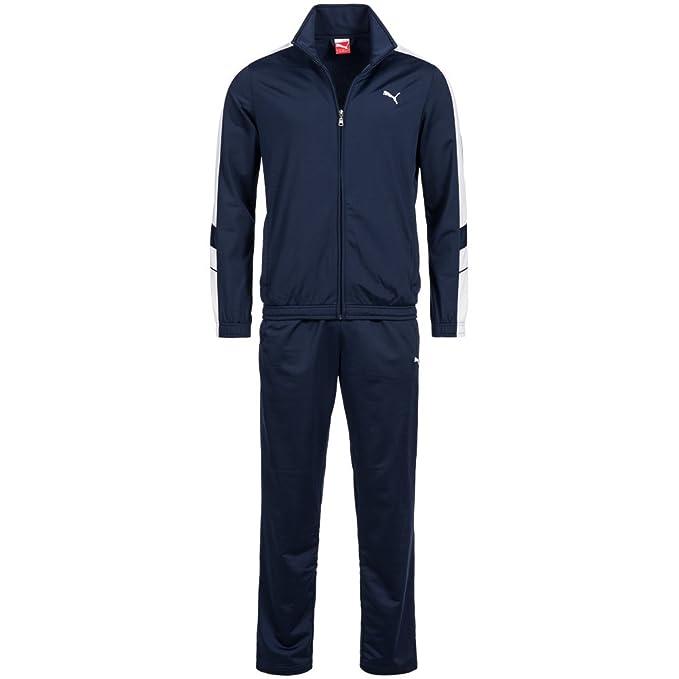 fefce342d639 Puma Mens Tracksuit Soccer Training Suit Poly Track Top Pants Suit Navy  819298 (S)
