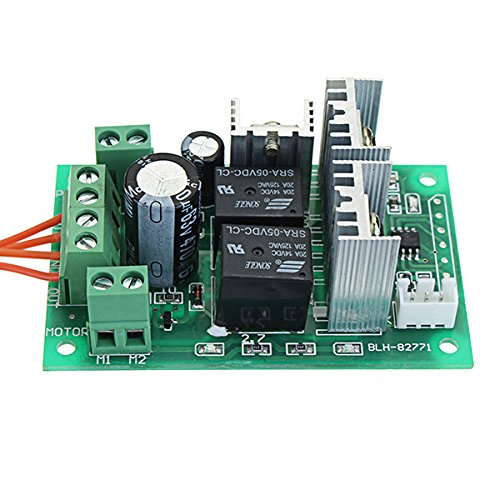 DC 5-30V 10A 300W PWM DC Motor Speed Regulator Speed Controller 6V 12V 24V Positive and Reverse Switch Electric Push Rod Motor Controller Lock-Free Key Control Relay Switch Support PLC 0-5V