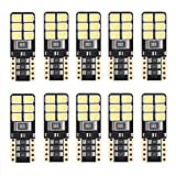 #10: 194 LED Light bulb,194 168 2825 W5W T10 Wedge Canbus Error Free LED Bulbs for Car Interior Dome Map Door Courtesy License Plate Light, 2018 Newest hight power 12-SMD 3528,White 6000K-(Pack of 10)