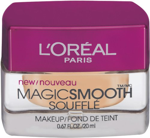 L'Oreal Paris Studio Secrets Professional Magic Smooth Souffle Makeup, Sand Beige, 0.67-Fluid Ounce
