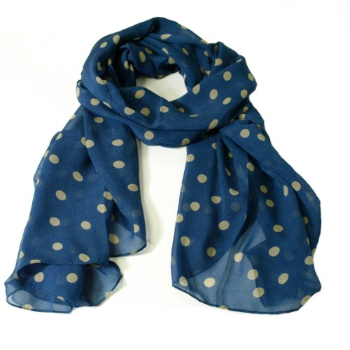 Wrapables Chiffon Polka Dot Scarf