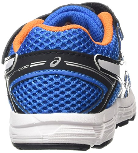 Asics GT 1000 4 TS - Zapatillas de running para niños Varios colores (Electric Blue /         White /         Orange)
