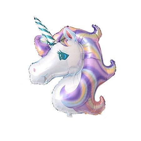 SMAQZ Globo de Unicornio, Conjunto de Globos de cumpleaños ...