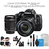 Canon EOS Rebel T6i Digital SLR Camera (Wifi Enabled) w/EF-S 18-135mm f/3.5-5.6 IS STM Lens + DigitalAndMore Deluxe Camera Cleaning Solution