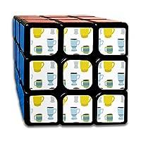 Speed Cube Coffee Mug Pattern Fantastic 3 X 3 Rubik's Cube For Boys Intelligence Toy (Sticker)