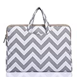 Funny live Wavy Lines Canvas Portable Laptop Sleeve Carrying Case Bag for Notebook Computer/Laptop/MacBook Air/MacBook Pro 11'' 12'' 13'' 14'' 15'' (gray, 14 Inch)