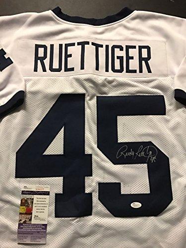 Autographed Signed Rudy Ruettiger Notre Dame White College Football Jersey  JSA COA 2ec1de449