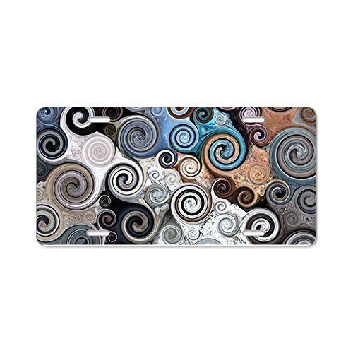 (CafePress - Rock Swirls - Aluminum License Plate, Front License Plate, Vanity Tag)