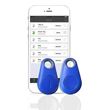 Smart Finder Localizador GPS Bluetooth 4.0 Inteligente Rastreador GPS Tracer para Niños/Mascotas/Perro/Gatos 2PCS JAANY (Azul): Amazon.es: Electrónica