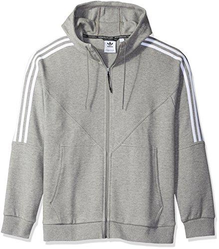 adidas Originals Men's NMD Full-Zip Hoodie, core heather, XL (Adidas 3 Stripes Zip Through Hoody Mens)