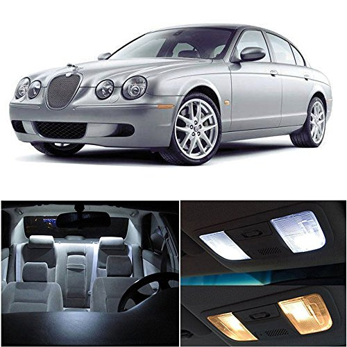 cciyu Replacement fit for Jaguar S-Type 2000-2008 Package Kit White LED Interior Light Accessories Replacement Parts 13 - Jaguar S Type Accessories