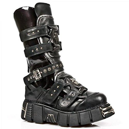 New Rock Boots M.1026-s1 Gotico Hardrock Punk Unisex Stiefel Schwarz