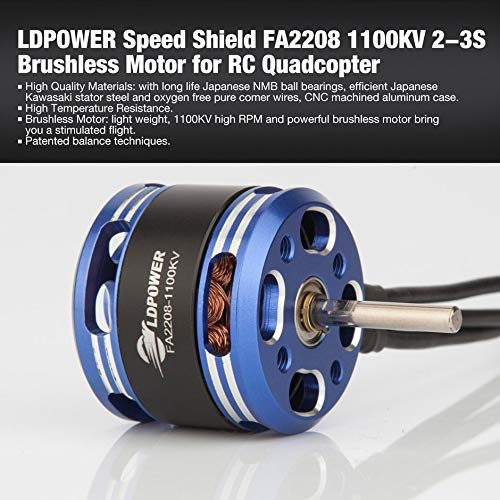 LDPOWER Speed Shield FA2208 1100KV 2-3S Brushless Motor for Fixed Wing RC Drone FPV Racing Quadcopter Glider Plane Spare Parts❤️