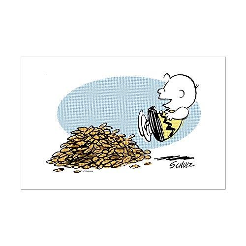 CafePress - Charlie Brown Leaves - Mini Poster Print ()