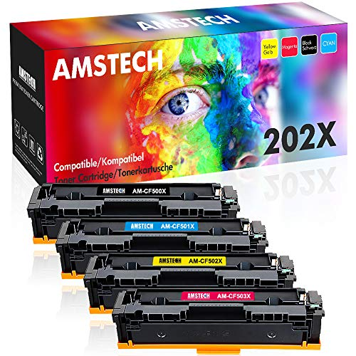 - Amstech Compatible Toner Cartridge Replacement for HP M281fdw HP 202X CF500X Toner for HP M254dw M281fdw HP Laserjet Pro MFP M281fdw M281cdw M254dw M254dn M254nw M281 Toner Cartridge Printer (4-KCMY)