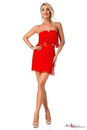 BBY - Traje de Vestir - para Mujer Rojo M: Amazon.es: Ropa y ...