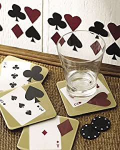Wallies poker suite cards bar room wall decor for Bar decor amazon
