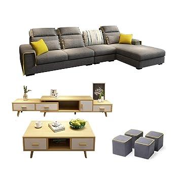 DNNAL Sofá de Tela Sofá seccional Grande y Moderno, sofá en ...
