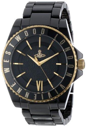 Vivienne Westwood Unisex VV048GDBK Gold-Tone and Black Ceramic Bracelet - Round Premium Rock Outlet Stores