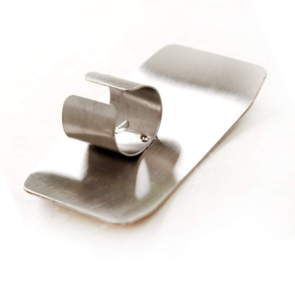 Potelin Stainless Steel Finger Protector Hand Guard Kitchen Knife Slice Chop Shield Tool