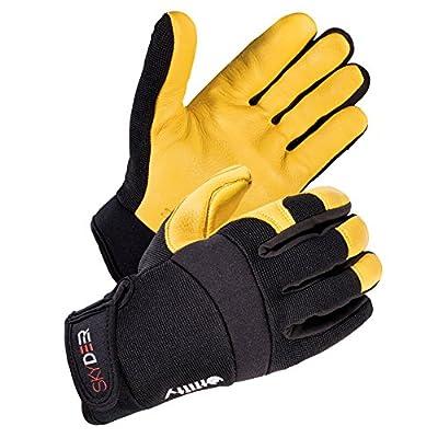 SKYDEER Deerskin Leather Hi-Performance Utility Grip Work Gloves