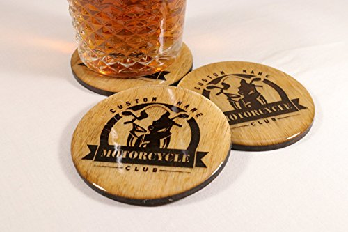 CUSTOM Motorcycle Coasters - High Gloss Epoxy Coat - 3.5