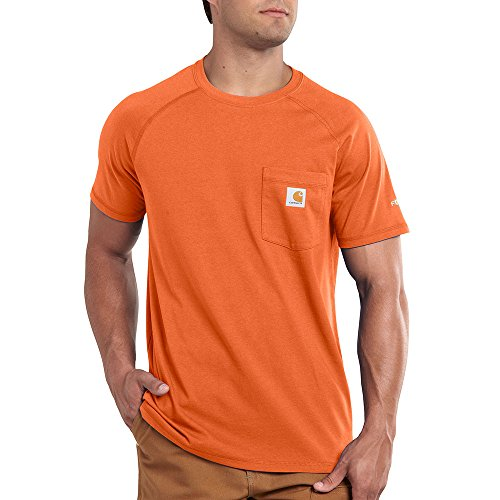 Carhartt Men's Big & Tall Force Cotton Short Sleeve T-Shirt Relaxed Fit,Orange,X-Large/Tall -