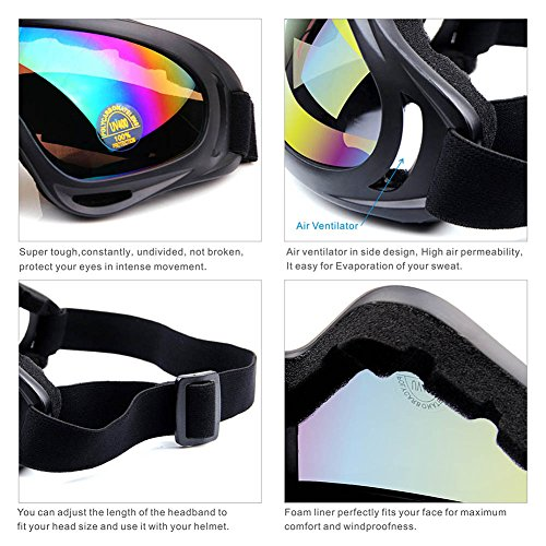97352490f7 Binboll Adjustable UV Protective Outdoor Glasses Motorcycle Goggles Dust-proof  Protective Combat Goggles Military Sunglasses