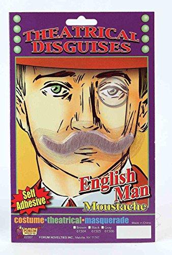 (Gray Englishman Moustache - Costume)