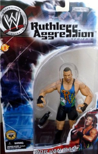 ROB VAN DAM - RVD - WWE Wrestling Wrestling Ruthless Aggression Series 6 Figure by Jakks figure doll toy (parallel import) by WWE