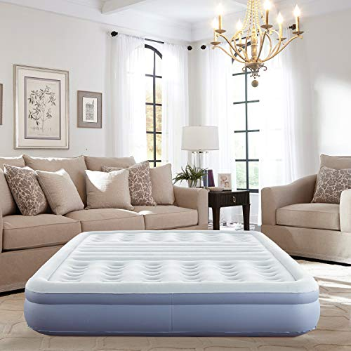 Thomasville Lumbar Lift Express Tri-Zone Support Raised Air Bed Mattress with Express Pump, 12