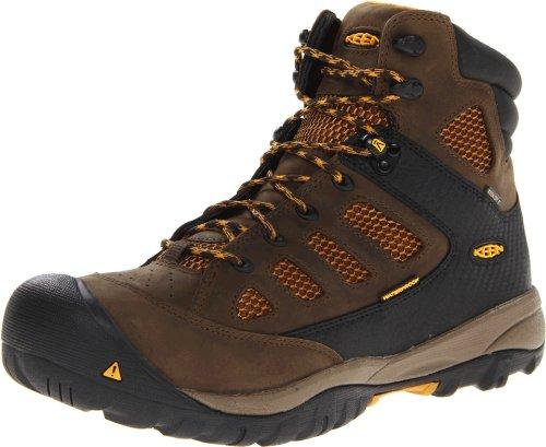 KEEN Utility Men's Tucson Mid Puncture Resistant Soft Toe Work Boot,Black Olive/Golden Yellow,10 EE - For Men Tucson Men