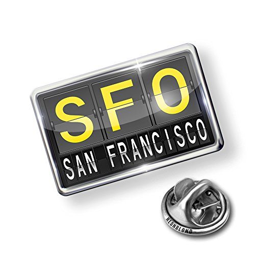 Pin SFO Airport Code for San Francisco - Lapel Badge - NEONBLOND