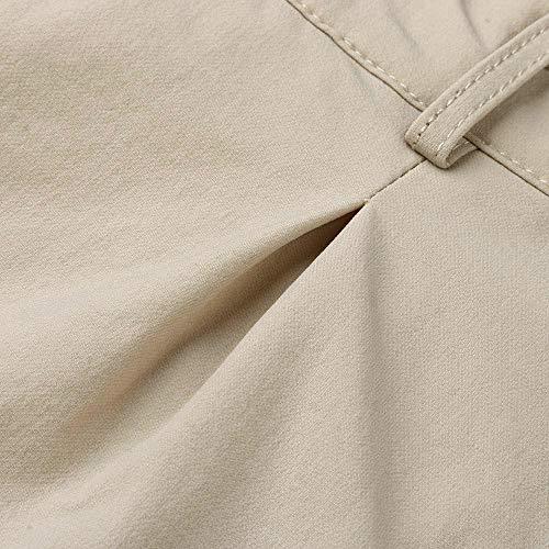 Hommes Kaki De Jambe Pantalon Décontracté Droite Amuster Pour Couleur Unie Polyvalent À BYHPqwa