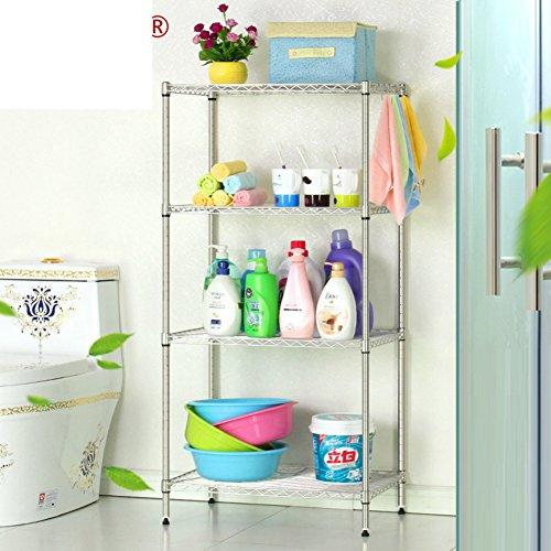 durable modeling Stainless steel bathroom shelf / bathroom floor/Perforated shelf storage rack-free-E