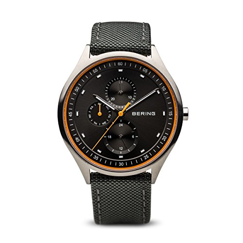 Bering Time 11741-879 Men Titanium Collection Watch with Nylon Strap and Scratch Resistent Sapphire Crystal. Designed in Denmark