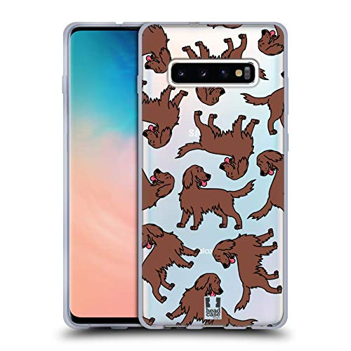 Head Case Designs Irish Setter Dog Breed Patterns 8 Soft Gel Case Compatible for Samsung Galaxy S10+ / S10 Plus