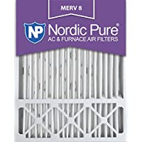 Nordic Pure 20x25x5 (4-3/8 Actual Depth) Lennox X6673_X6675 Replacement MERV 8 Pleated AC Furnace Air Filter, Box of 1