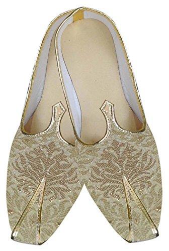 INMONARCH Hombres Zapatos de Boda India Beige MJ0122