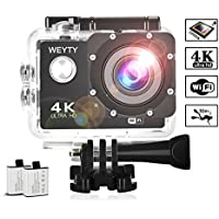 Action Camera WeyTy X6S 4K 30m Underwater Camera 16MP...
