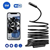 Wireless Endoscope,Wifi Inspection Camera, 2.0 Megapixels HD Snake Camera, Instecho Micro USB Borescope Waterproof Endoscope for Laptops and USB OTG Compatible Android Smartphones (5M)