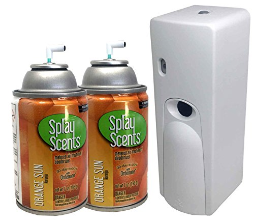 Automatic Spray Air Freshener Kit (2) Refills with (1) Dispenser - Spray Scents - Orange Sun ()